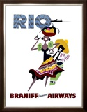 Braniff International Airways, Rio Framed Giclee Print