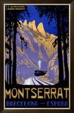 Montserrat Barcelona Spain Framed Giclee Print