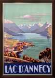 PLM Railroad, Lake d'Annecy Framed Giclee Print