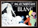 Palais de la Nouveaute, Blanc Framed Giclee Print by René Vincent