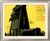 Refuelling the Flying Scotsman Framed Giclee Print by Frank Newbould