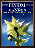 Cannes Film Festival, 1951 Framed Giclee Print by Paul Colin