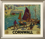 Cornwall Framed Giclee Print by Ronald Lampitt