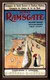 Sunny Ramsgate Railway, c.1908 Framed Giclee Print