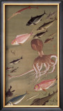 Fish Athletic Meeting Framed Giclee Print by Jyakuchu Ito