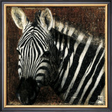 Zebra Portrait Art by Fabienne Arietti