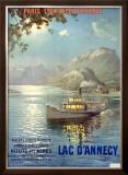 PLM Railroad, Lake d'Annecy Framed Giclee Print