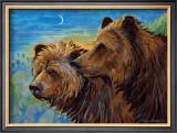 Bear Pair Framed Giclee Print by Georgia Lesley
