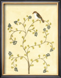Berry Bird II Print by Virginia A. Roper