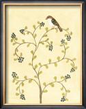 Berry Bird II Print by Virginia A. Roper