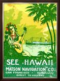 See Hawaii, Matson Navigation Framed Giclee Print