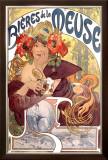 Bieres de la Meuse Framed Giclee Print by Alphonse Mucha