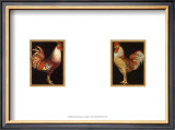 Roosters on Black Prints