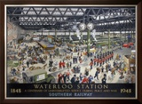 Waterloo Station, Southern Railway, 1948 Framed Giclee Print by Helen Mckie