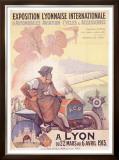 Exposition Lyonnaise Framed Giclee Print by Marcellin Auzolle
