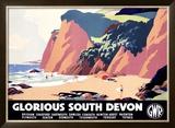 Glorious South Devon Framed Giclee Print by Leonard Cusden