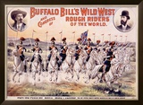 Buffalo Bill's Wild West, Cavalry Lancers Framed Giclee Print