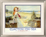 Clacton on Sea, Butlin's Holiday Framed Giclee Print by W. Smithson Brodhead