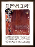Exposition des Beaux Arts, Dusseldorf Framed Giclee Print by Josef Adolf Lang