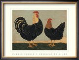 Double Roosters Print by Warren Kimble