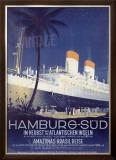 Hamburg to America Line Framed Giclee Print by Ottomar Anton