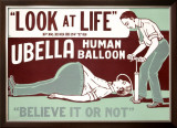 Believe It or Not, Ubella Human Balloon Framed Giclee Print