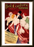 Bal de la Couture Parisienne Framed Giclee Print by Leonetto Cappiello