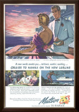 Couple on Deck, Matson to Hawaii Framed Giclee Print
