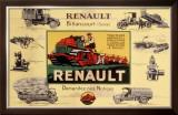 Renault Tractor Farm Equipment Framed Giclee Print