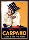 Vermuth Carpano, Unico de Torino Framed Giclee Print by Achille Luciano Mauzan