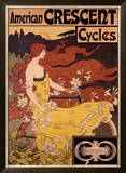 American Crescent Cycles Framed Giclee Print by  Ramsdell