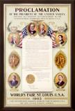 Presidents Proclamation at 1903 World's Fair Framed Giclee Print by Reinhard Hoffmuller