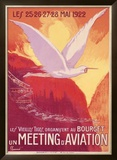 Meeting Aviation Framed Giclee Print by Pierre Commarmond
