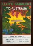 Lloyd Sabaudo to Australia Framed Giclee Print