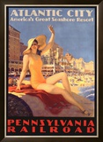 Pennsylvania Railroad, Atlantic City Framed Giclee Print by Edward M. Eggleston