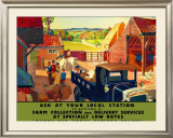 Farm Collection and Delivery Services Framed Giclee Print by Andrew Johnson