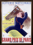 Grand Prix Horse Race, Paris Framed Giclee Print