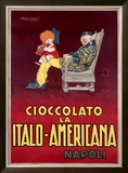Cioccolato la Italo-Americana, Napoli Framed Giclee Print by Achille Luciano Mauzan