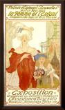 La Femme et l'Enfant Expo Framed Giclee Print by Fernand Toussaint