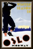 Winter Snow Season, Oslo, Norway Framed Giclee Print