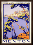 Menton Resort Plm Railway Framed Giclee Print
