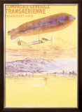 Billancourt to Paris by Dirigible Airship Framed Giclee Print