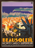 Beausoleil Framed Giclee Print by Roger Broders