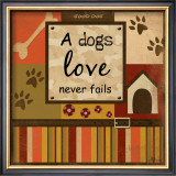A Dog's Love Never Fails Print by Jennifer Pugh