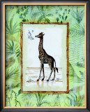 Jungle Giraffe Poster by Marie Frederique
