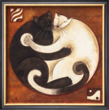 Yin Chi Yang Cats Prints by Aline Gauthier