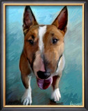 Spike Bull Terrier Print by Robert Mcclintock