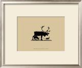 Elk Silhouette I Art