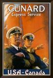 Cunard Line, Express Service Framed Giclee Print