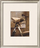 Swallow On Bicycle Limited Edition Framed Print by Peter Munro
